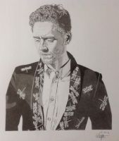 Tom Hiddleston by Albertinez