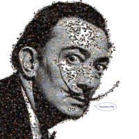 Dali photo mosaic by Mosaikify
