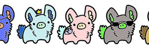 Adoptable pig 1 by louisechoy