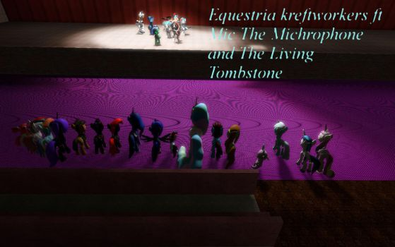 Equestria kreftworkers ft Mic and living tombstone by JohnnyxLuna