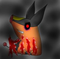 Pokemon... Grey? creepypasta fanart by Silvernazo