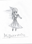 Mrs. Black and white (inked) by TheDeviantM