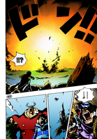 One Piece 670 - Explosion Page Colorize by NickTesta