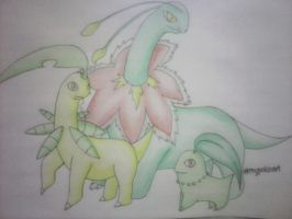 Colored leaf stages. I need critiques.. by mypokeart
