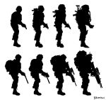 Military Silhouettes by PeopleEveryday