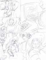Like, totally awesome! p1 Sketches by AkuOreo