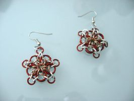 Chainmail celtic star earings by Tannalein