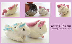 Fat Pink Unicorn - SOLD by Bittythings