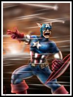 Captain America by cheddarpaladin