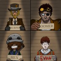 Ragtag Crew - Mug Shots by FourOfFour
