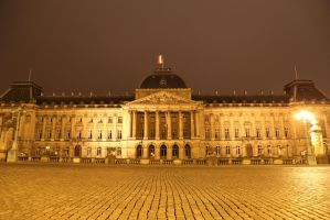 Brussel at night again by poisonous