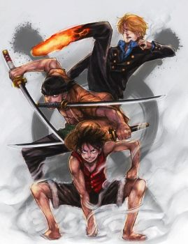 Monster Trio by megamono