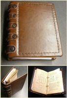 Small Leather Binder by Astanael