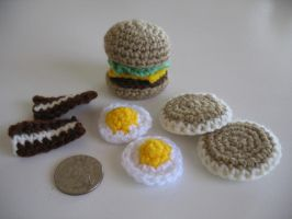 Tiny Crocheted Food by djonesgirlz