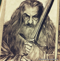 Gandalf Drawn by thelucasrbp