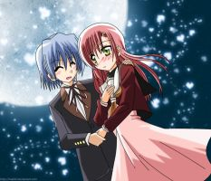 Hayate and Hina by makiri