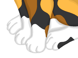 Calico Cat Feet Pixel by The-Insane-Puppeteer