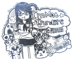 I am not tsundere by alexa-blue-sky