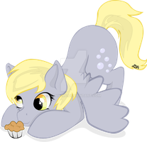 Derpy and her muffin by Danie-me