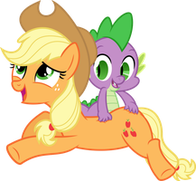 Applejack's Back Rub by PsychicWalnut