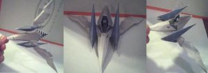 Arwing Papercraft by ganon-destroyer