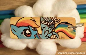 Rainbow Dash Keychain by Dragons-Garden