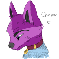 Chanter Anthro Coloured Sketch Headshot by Apriifox