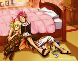 Natsu and Lucy - Sweet Dreams [Colour] by MEMIsWonderwall