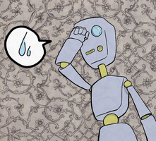 Distressed Robot by kassie
