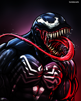 Venom Fan Art (Marvel Comics) by TomislavArtz