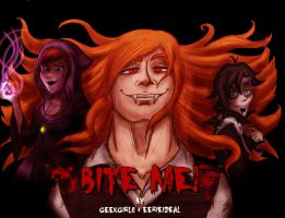 Bite Me! Teaser Poster: The Villains by geekgirl8