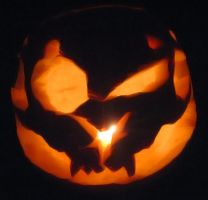 The Cat Beast Pumpkin Carving by Zakeno