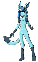 Eeveelution: Glaceon by MewgletheWolf