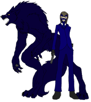 Man and Wolf {Size Scale} by SassyMuffins