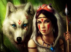 Princess Mononoke by JoJoesArt