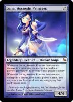 Luna, Assassin Princess mtg by alternatepony