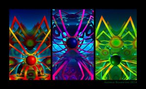 The fractal Easter Spiders by arteandreas
