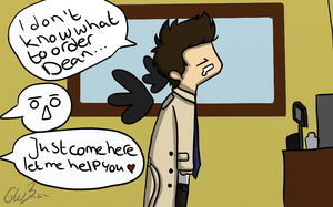 Day 4 - On A Date (destiel) by Castielogically