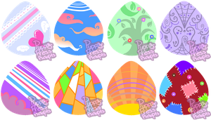 Themed Pony Egg Adopts CLOSED by PuppyPress-Adopts