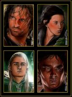 LOTR Sketch Card Set by RandySiplon