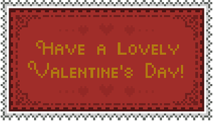 Valentine's Day Stamp (Large) by LuckyBambooPhotos
