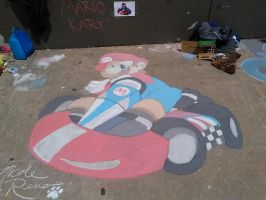 Glenpool NAHS Sidewalk Art 2014 - Mario Kart by PeaceWolfLegacy
