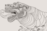 T-rex - Morning Sketch by KreativeCid
