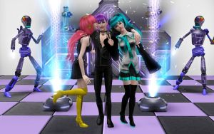 Luka, Gakupo and Miku in Sims3 (1) by ng9