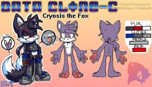 Cryosis the Fox -- 2013 Reference Sheet by Amuzoreh