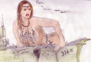 Tieena vs aircraft carrier by POWER-BEAUTIES