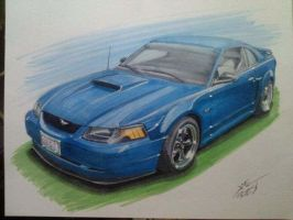 2003 Ford Mustang GT by Classic-Art-by-JP