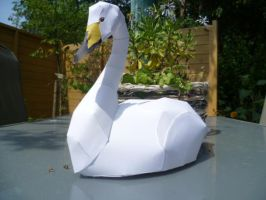 swan papercraft by epikachu