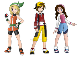 Pokemon Trainers by girlwonder004