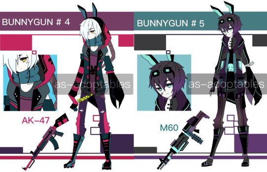bunny gun adoptables CLOSED # 4 - # 5 by AS-Adoptables